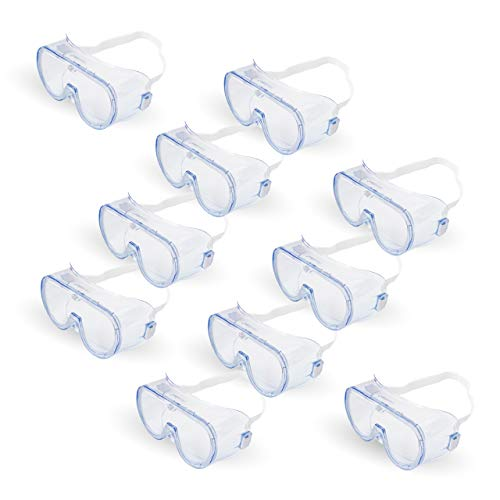 Generic Safety Goggle, Disposable Protective Medical Eyewear, 10 Goggles