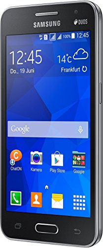 Samsung Galaxy Core 2 Duos Smartphone (11,4 cm (4,5 Zoll), 1,2GHz Quad-Core Prozessor, 5 Megapixel Kamera, 0,3 Megapixel Frontkamera, Touchscreen, Android) schwarz