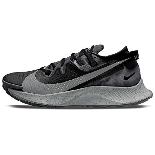 Nike Pegasus Trail 2, Scarpe da Corsa Uomo, Black/Spruce Aura-Dk Smoke Grey-Particle Grey-Iron Grey, 44.5 EU