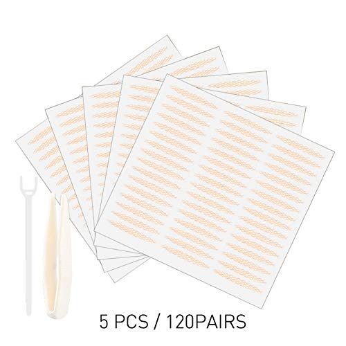 Lucoss Augenlidklebeband Eyelid Tape Sticker 5 Stück Lace Double Natural Invisible Double Eyelid Tape Sticker Mesh Selbstklebende Augenlid Werkzeuge
