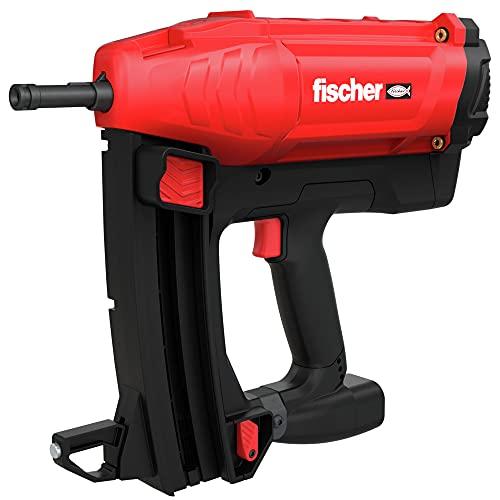 fischer 553411 Clavadora de Clavos a Gas FGC 100, con Dos baterías de 7,2 voltios y 2,5 amperios, 1 Cargador, 2 Disparos por Segundo, Rojo