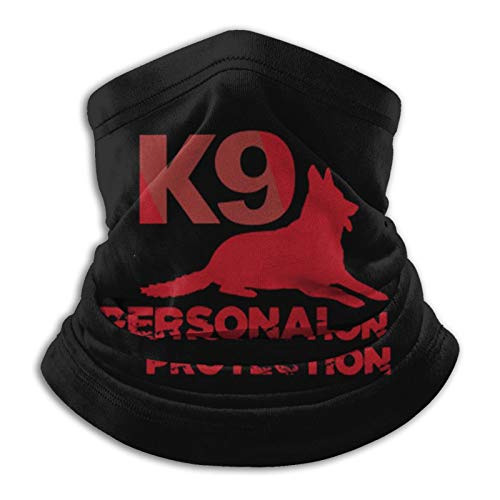 K9 Personal Protection Face Mask Bandanas Neck Gaiter Magic Scarf for Dust Outdoors Black