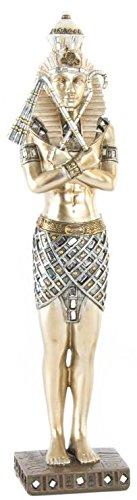 AVENUELAFAYETTE Statuette Figurine Egyptienne sur Socle Couleur Or - Egypte - 36 cm (M1)