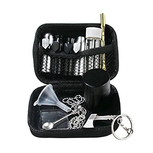 Juego de tabaco de chupete, con bola de aluminio, cuchara dispensadora de metal, depósito de almacenamiento, embudo de plástico (caliente)