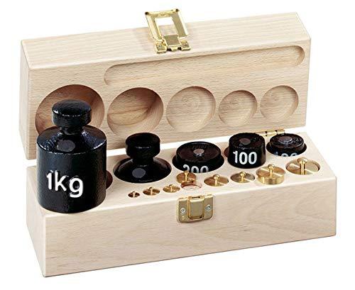 Betzold Tafelwaage-Zubehör Gewichtssatz C im Holzkasten - Rechnen mit Gewichten Mathematik Grundschule Kinder