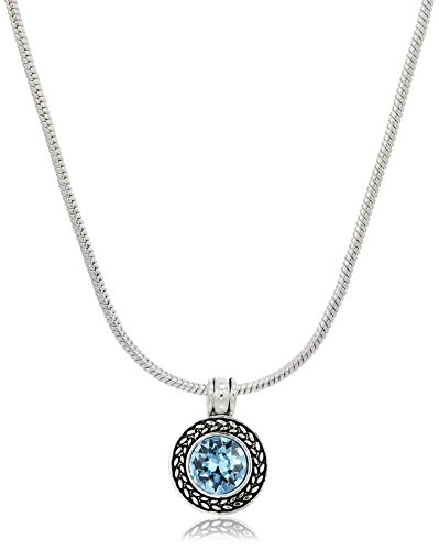 """Napier Silver-Tone and Blue Swarovski Necklace and Earrings, 16"""" + 3"""" Extender"""