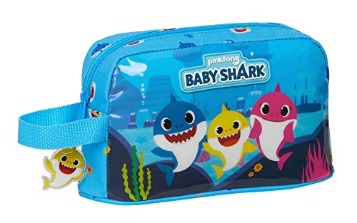 Safta Porta Desayunos Termo Térmica de Baby Shark, Azul Claro, 215x65x120mm