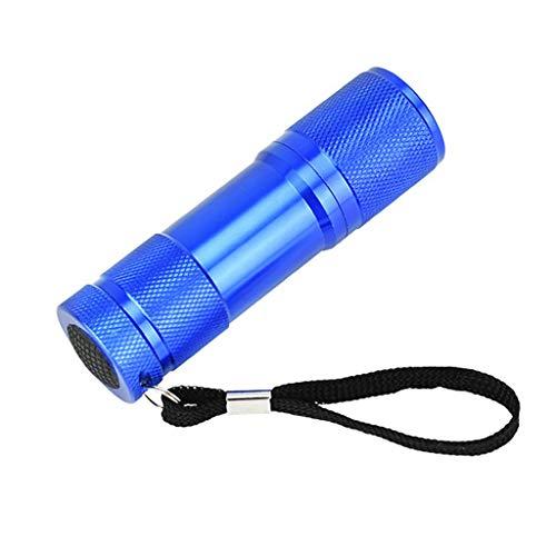 9 LEDs Ultraviolett Schwarzlicht ,Taschenlampe Handlampe Professional Heimtierurindetektoren, Für Eingetrocknete Urin- Flecken Der Hunde, Katzen Und Nagetiere Auf Teppichen,Vorhänge. ( Color : Blue )
