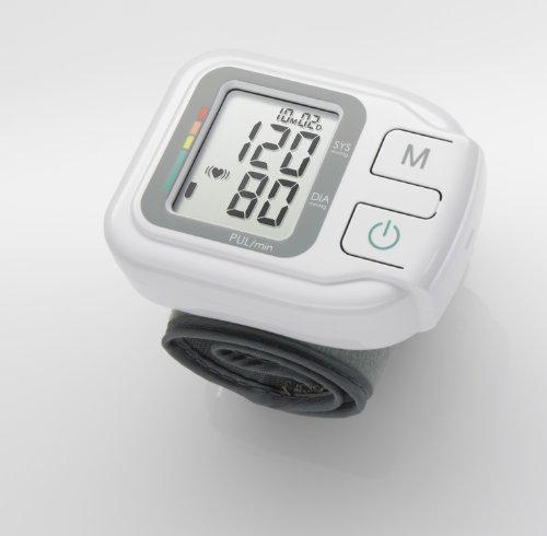 Medisana HGH tensiomètre au poignet, affichage de l'arythmie, échelle de couleurs des feux de circulation de l'OMS, pour une mesure précise de la tension artérielle et du pouls avec fonction mémoire