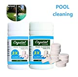 Multifunktions-Chlortabletten / Reinigungstablette Verhindern Sie Bakterien in Schwimmbädern Spa-Whirlpool-Paddel-Starter-Kit für Chemikalien (2X 100 Tablette)