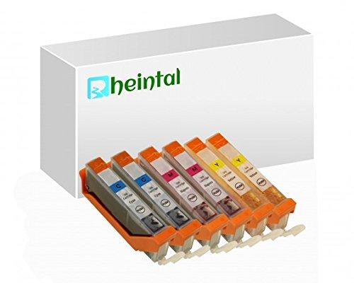 Rheintal, Set di cartucce XL di ricambio con chip, compatibili con Canon PGI-570, CLI-571 (07) 571 - 6 Patronen