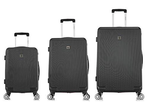 TORENTE COUTURE Maleta de viaje con ruedas giratorias, juego de 3 maletas rígidas, varios colores a elegir Negro Negro
