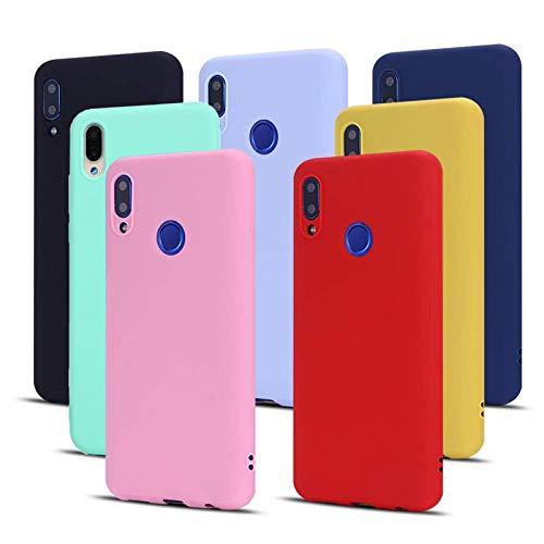 Meeter Funda para iPhone 12 / iPhone 12 Pro, 7 x Unidades Carcasas Ultra Fina Silicona TPU de Alta Resistencia y Flexibilidad Caso Colores (Negro+Rojo+Azul Oscuro+Rosa+Lavanda+Amarillo+Verde)