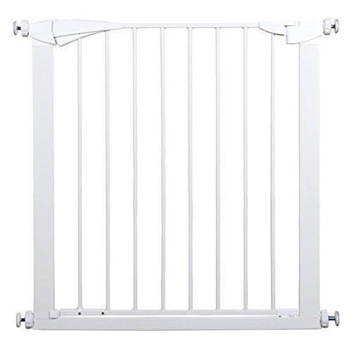 Barrière de sécurité Barrière supplémentaire très Large et Haute pour bébés Pressure Fit - Escaliers d'intérieur Porte pour Animaux de Compagnie avec Porte, Blanc, Largeur 77-182cm, Hauteur 91cm