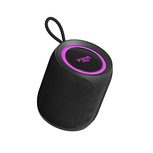 Altavoz Easy 2 de Vieta Pro, con Bluetooth 5.0, True Wireless, Micrófono, Radio FM, 12 Horas de autonomía, Resistencia al Agua IPX7 y botón Directo al Asistente Virtual; Acabado en Color Negro.