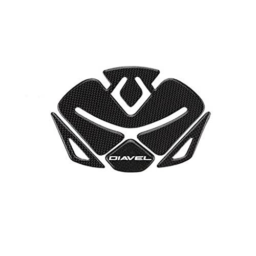 Motorrad Tank Pads Geeignet für Ducati Diavel Big Devil Fisch Knochenaufkleber Kraftstofftank Kohlefaser Schutzaufkleber (Color : 4)