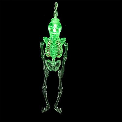 Xingyue Aile buitenverlichting & speelparaties Halloween-decoratie schedel slinger party nacht, skelet man decoratieve lichtsnoer met 10 leds vakantie snoer verlichting