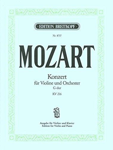 Violinkonzert G-dur KV 216 Breitkopf Urtext - Ausgabe für Violine und Klavier (EB 8737)