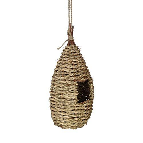 sprwater Nido D uccello Casetta per Nidificazione degli Uccelli Voliera da Giardino Appesa Nido D uccello Gabbia per Colibrì Tessuta A Mano All aperto Noble