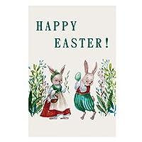 Tomaibaby ハッピーイースター壁の装飾イースターバニーウサギのぶら下げプラーク装飾看板ハンガーイースター挨拶家庭菜園