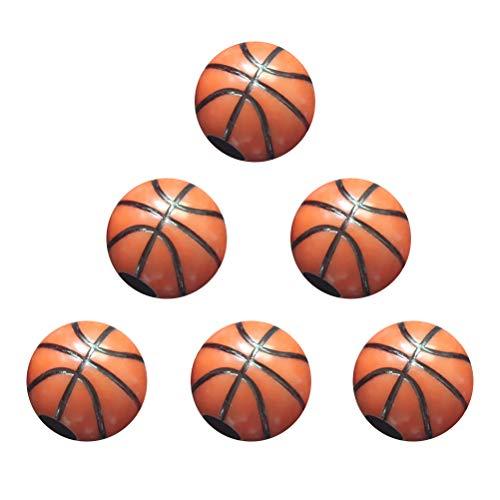 Toyvian 60 Stücke Kunststoff Ball Perlen 12 MM DIY Basketball Förmigen Handwerk Perlen Schmuck Machen Kits für Kinder DIY Halsketten Armband Zubehör