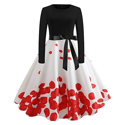 Vectry Vintage Kleid 1950er Vintage Kleid Damen Vintage Kleid Vintage Kleid Damen Kleid Vintage Vintage 50er Jahre Rockabilly Kleid 50 Vintage Kleid Qipao Kleid Vintage 50er Vintage Kleid