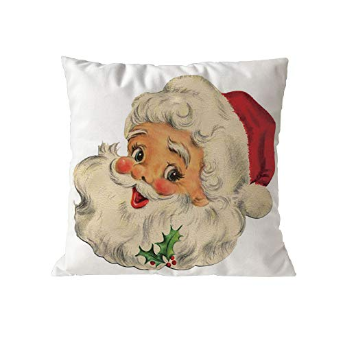 jieGorge Christmas Cotton Soft Pillow Case Sofa Waist Throw Cushion Cover Home Decor, Pillow Case, for New Year (H)