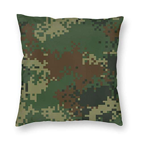 BK Creativity Pillowcases,America Jungle Camo Usa Camouflage Pattern Cushion Cases,Fashionable Throw Cushion Cases For Train Airplane Sleeping,45x45 cm