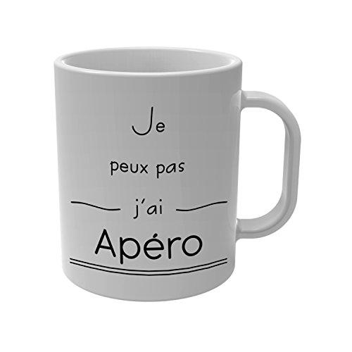 YONACREA - Mug Tasse - Je Peux Pas J'Ai Apéro
