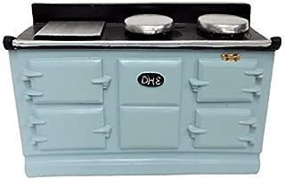 Melody Jane Dollhouse 4 Oven Lt Blue Aga Stove Miniature Kitchen Furniture