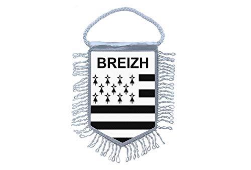 Akachafactory Wimpel bretonische Mini Flagge Fahne flaggen miniflagge Bretagne