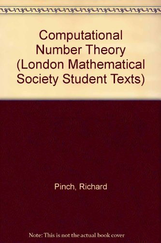 Computational Number Theory (London Mathematical Society Student Texts)