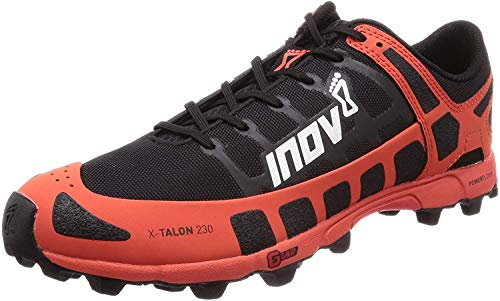 Inov-8 Mens X-Talon 230 - Lightweight OCR Trail Running Shoes - for Spartan, Obstacle Races and Mud Run - Black/Red 10.5 M US