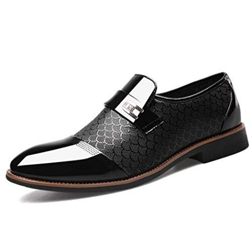 Männer Business Kleid Schuhe Arbeiten Klassische Lederkombis Beleg auf Büro Hochzeit Oxfords Schuhe