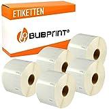 Bubprint 5x Etichette compatibile per Dymo 99012 S0722400 per Labelwriter 310 320 330 Turbo 400 Twin Turbo Duo 450 Twin Turbo Duo SE450 36 x 89 mm Bianco