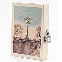 ノートブック ノートブック肥厚手帳パスワードジャーナルノートブックロックブックロックノートブック付きクリエイティブ日記 ジャーナルノートブック (Color : B)