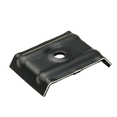 100x Kalotten Trapezblech Profilbleche Trapezform 35/207 Aluminium mit EPDM-Dichtung - anthrazitgrau (RAL 7016)