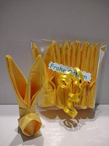 Servietten Osterhase 6 er-Set in gelb,ca.11cm hoch.Zir Tischdeko oder als nettes Geschenk