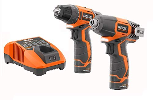 Ridgid 12-volt Hyper Lithium-ion Drill/driver and Impact Driver Combo Kit (Renewed)
