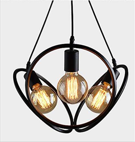 Nordic Bar Creative Pedent Lamp American Personality Restaurant Cafe Retro smeedijzeren raamdecoratie Lampen Zwart