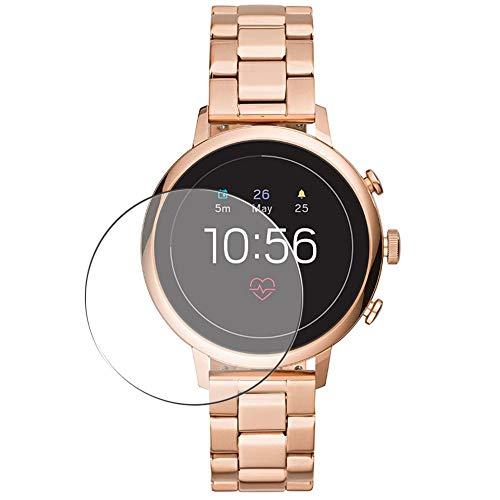 Vaxson 3 Stück Schutzfolie, kompatibel mit Fossil Gen 4 Q Venture HR FTW6018 Smartwatch smart watch, Bildschirmschutzfolie Displayschutz Blasenfreies TPU Folie [nicht Panzerglas]
