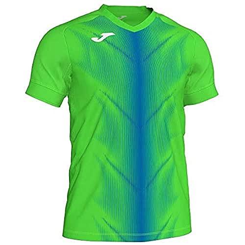 Joma Olimpia Camisetas, Hombres, Verde Fluor/Royal, L