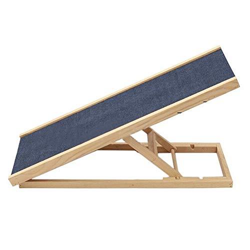 Escalier pour Chien- Rampe Réglable en Hauteur pour Chien avec Surface Antidérapante, Marches Pliables en Bois pour Chiens et Chats, pour Lit Haut/Voiture, Charge 50 Kg (Size : 2-Gear)