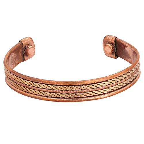 iCraftJewel Designer Kupfer Messing Cap Verstellbare Armband Manschette Armband Armband Männer Frauen