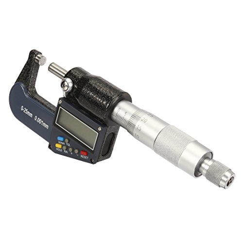 sourcingmap® Pantalla LCD electrónica 1-pulg/25mm Digital Micrómetro exterior con la calibración
