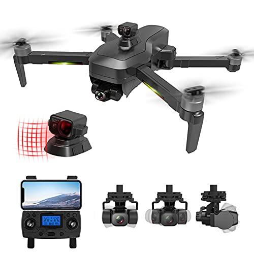 Lailuaxoa Drone con videocamera 4K per Adulti, Drone RC Professionale con Gimbal a 3 Assi GPS 5G WiFi FPV Quadricottero RC con Motore brushless 1.2KM 50X per Principianti 30 Minuti