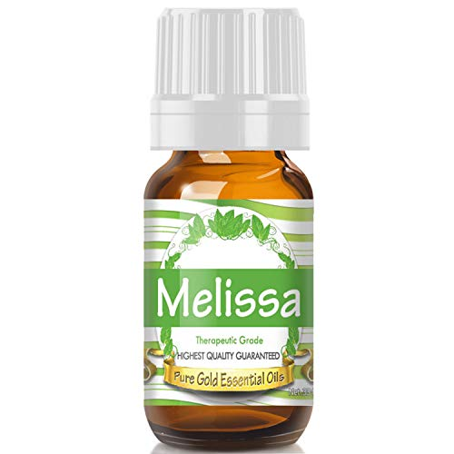 Pure Gold Melissa Essential Oil, 100% Natural & Undiluted, 10ml