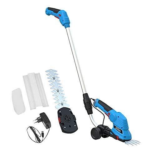 Güde 95507 Akku-Gartenpflege-Set GPS 7.2V-1.5 LI-ION (Hecken-/Strauchscherenaufsatz, 3-fach neigbarer Handgriff)