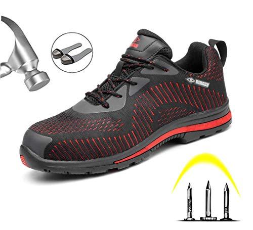 Stalen neus veiligheidsschoenen lichtgewicht heren S3 werkschoenen sportieve veiligheidsschoenen met stalen neus mesh luchtdoorlatend sneaker anti-smashing sneaker hiking schoenen