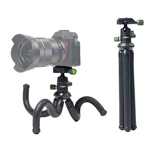 C-Rope Creatorpod, Flexibles Reisestativ mit Kugelkopf, Kamera Stativ für DSLR- und spiegellose Kameras, Traglast bis 2kg